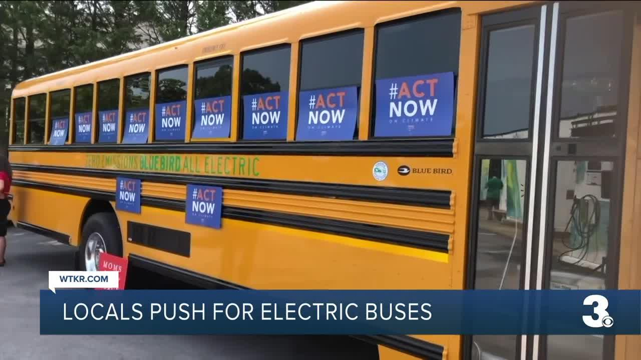 Climate advocates push for electric buses