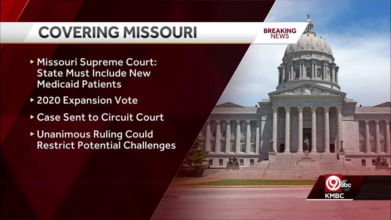 Missouri's high court sides with voters on Medicaid expansion