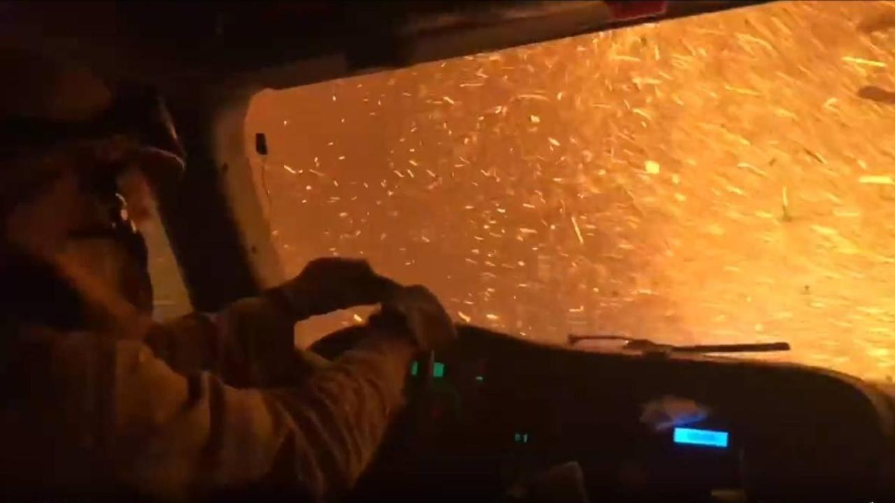 RAW: Video from Inside Cab of UC Davis Fire Truck Battling Tamarack Fire
