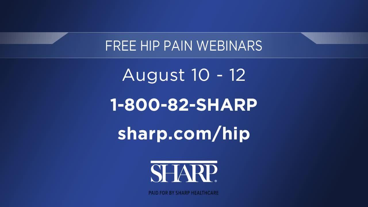 Sharp Healthcare: Free Hip Pain Webinar