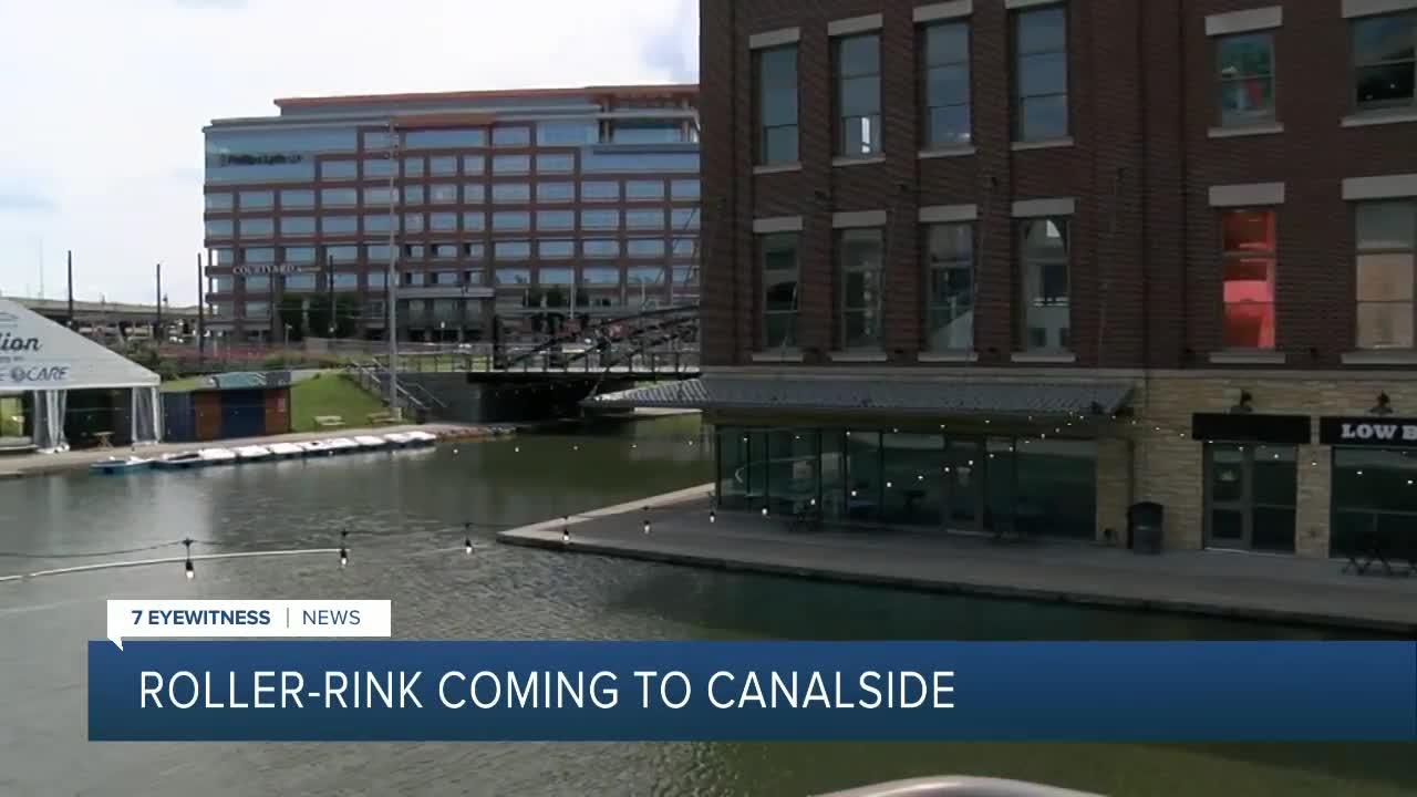 Largest outdoor roller rink in New York State opening at Buffalo's Canalside on August 20