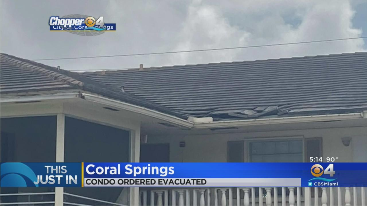 Coral Springs Condo To Evacuate Residents
