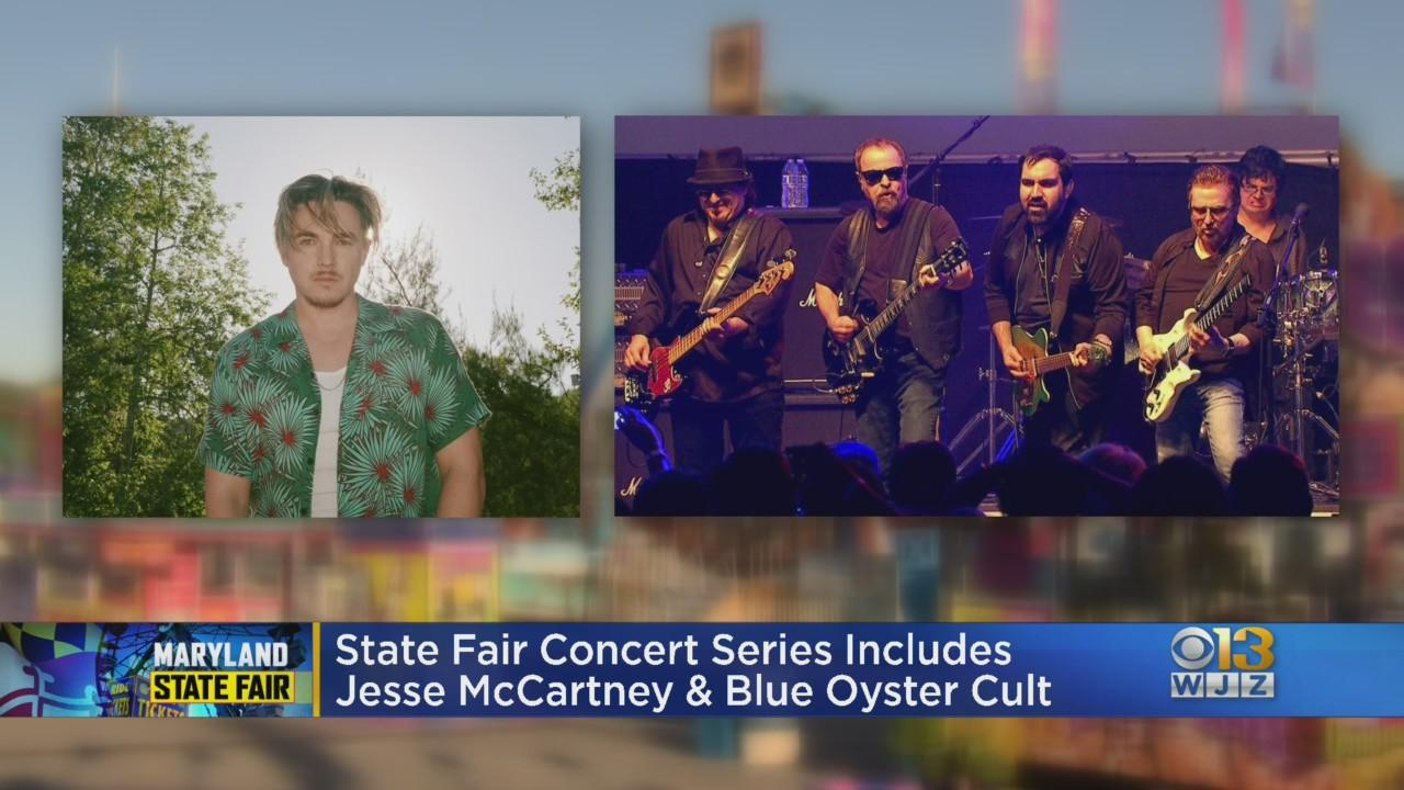 Jesse McCartney, Blue Oyster Cult To Perform At Maryland State Fair Concert Series