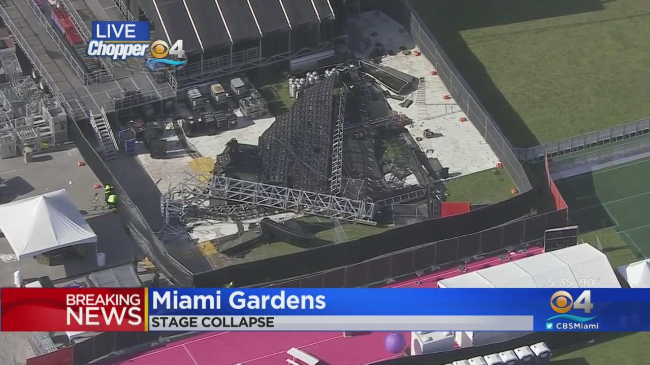 Stage Collapses In Miami Gardens