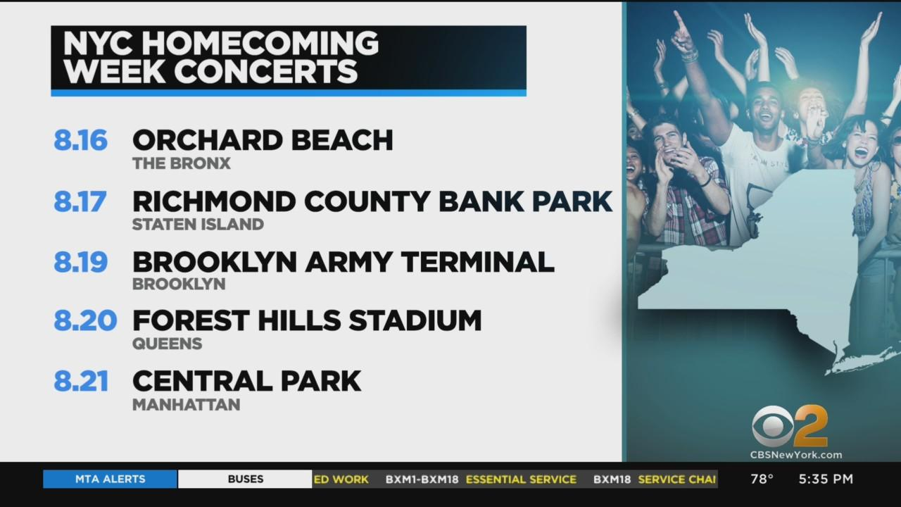 New York City Homecoming Week Concerts