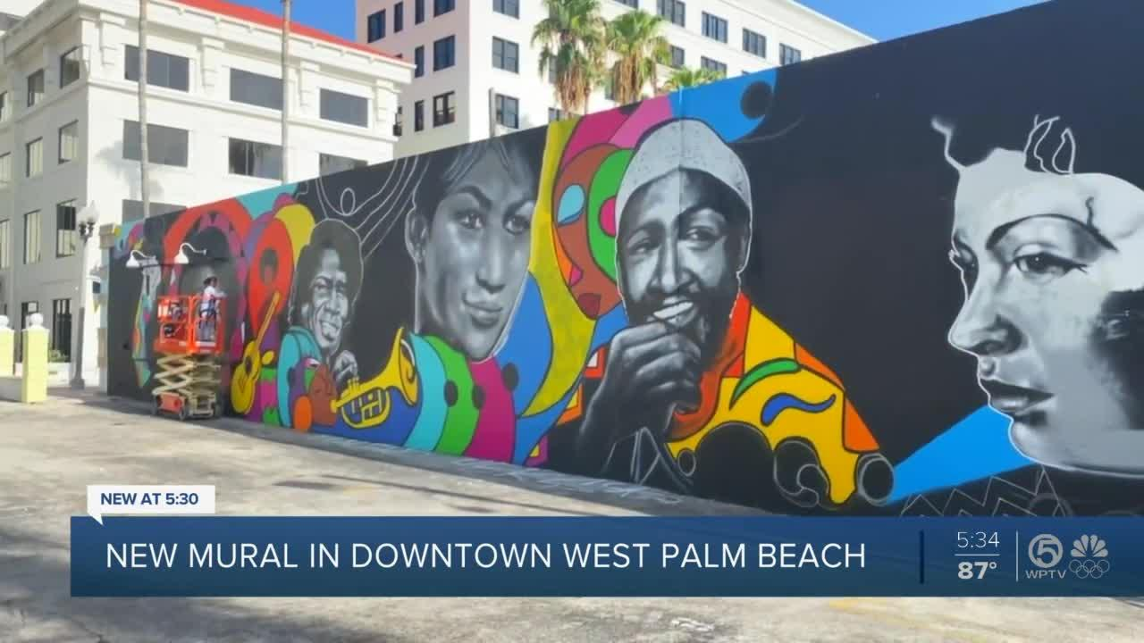 New West Palm Beach mural shines light on music, social justice