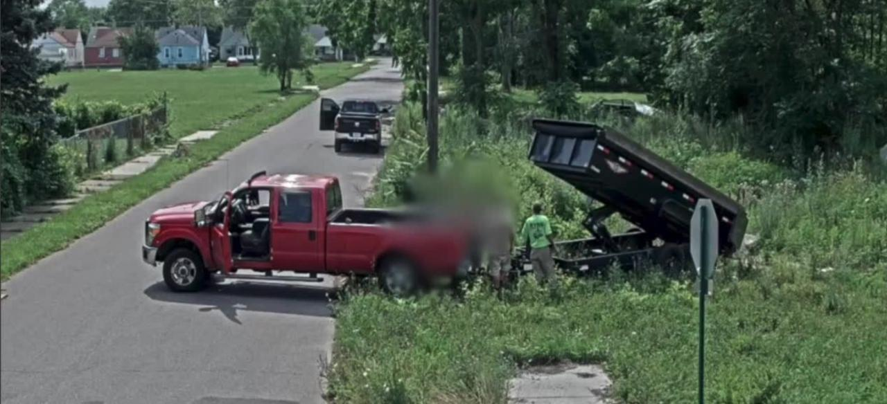 Illegal concrete dumping caught on camera in Detroit