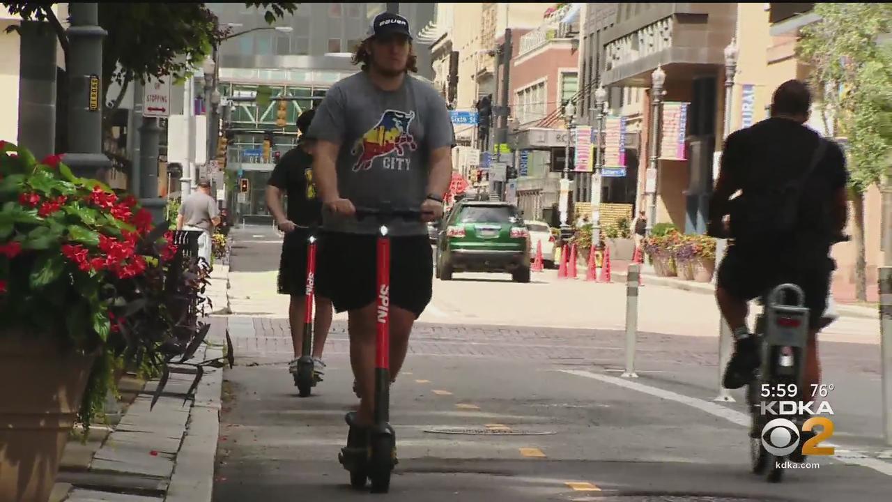 City Receiving Complaints Of Scooters Left On Sidewalks 2 Weeks Into New Program