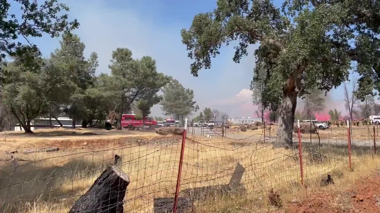 Raw: Vegetation Fire Prompts Evacuations Near Paradise