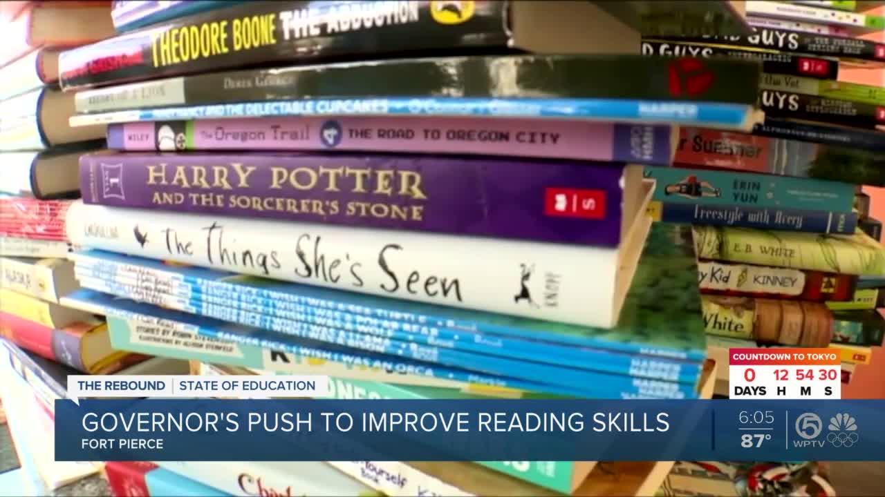 Gov. DeSantis makes push for improving reading skills during stop in Fort Pierce