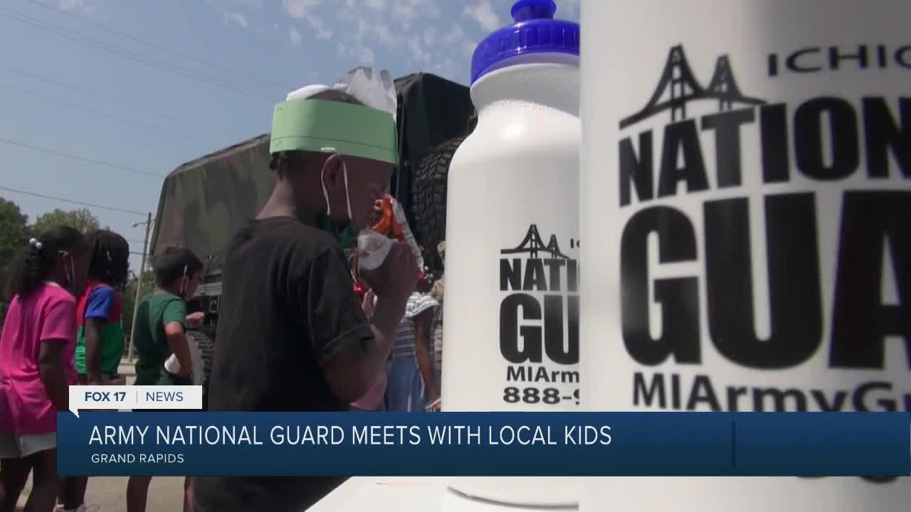 Kids at Boys and Girls Club had 'lots and lots and lots of fun' getting to know Army National Guard