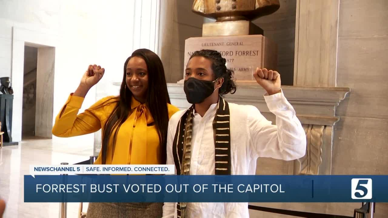 Commission votes to move Nathan Bedford Forrest bust from Capitol