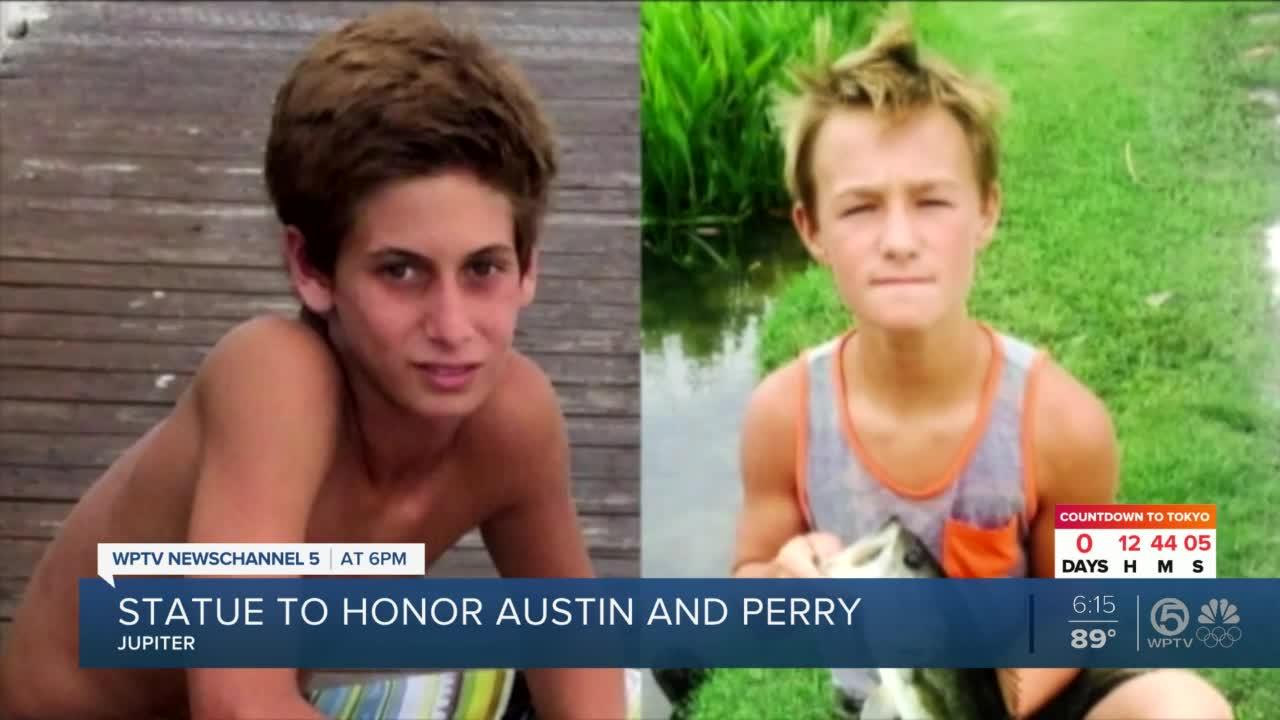 New statue honors Austin and Perry in Jupiter