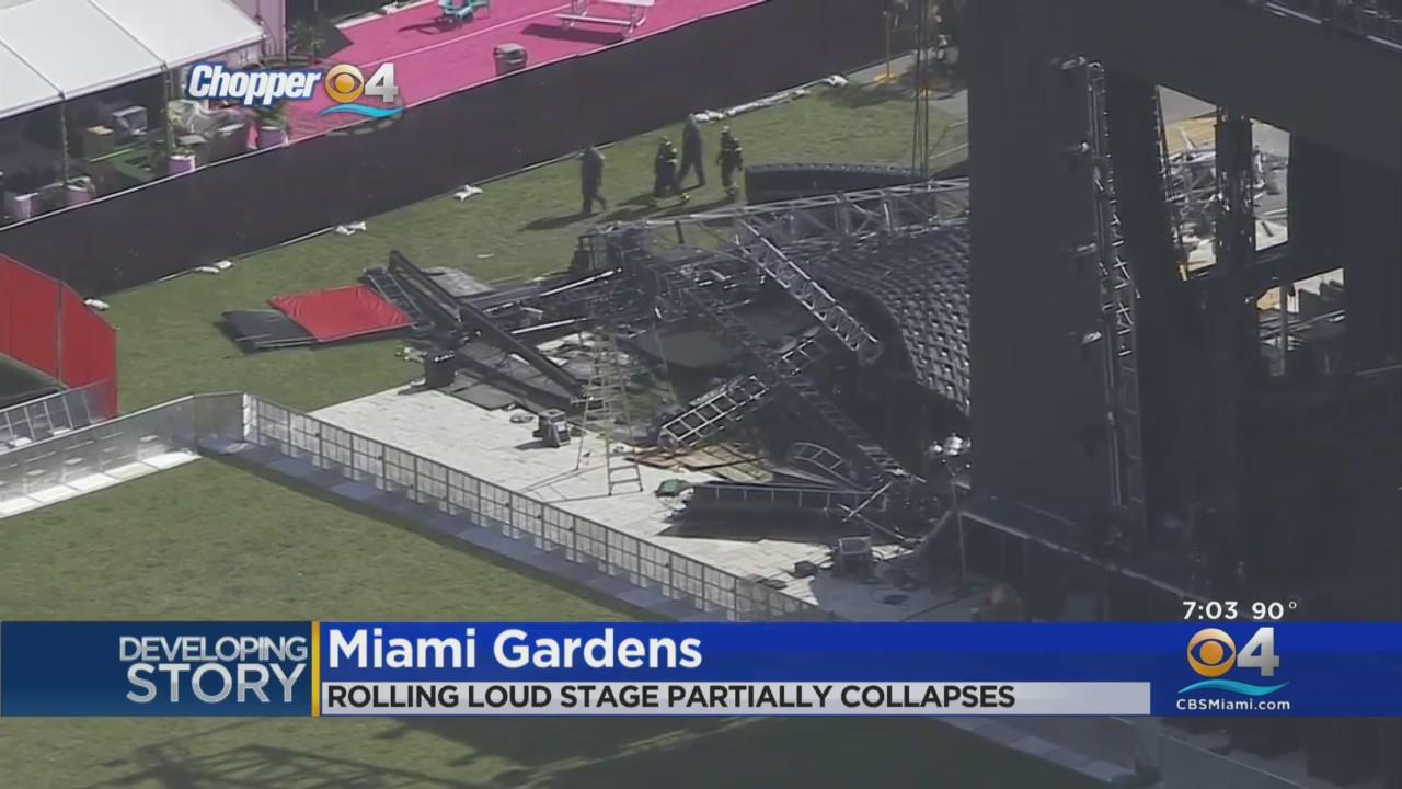 Part Of Stage For Rolling Loud Collapses In Miami Gardens