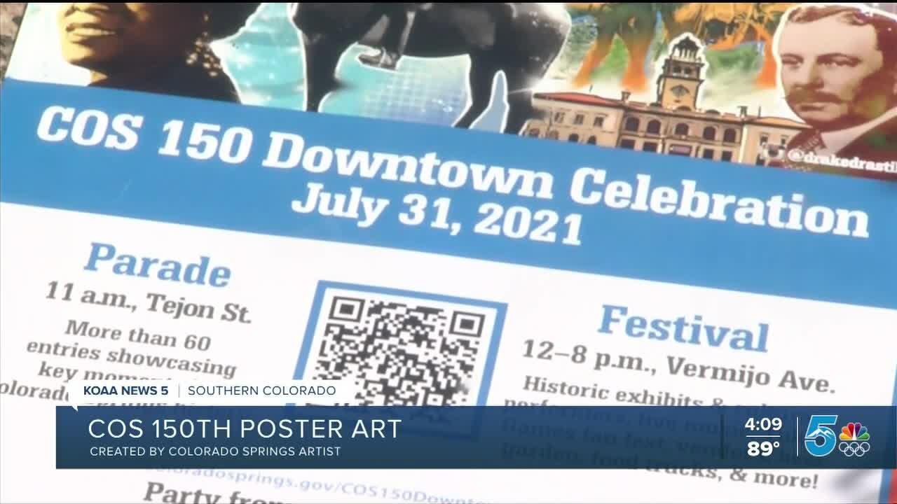 Colorado Springs unveils promotional poster for sesquicentennial