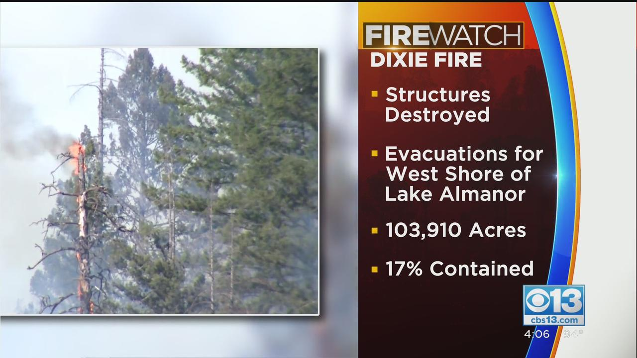Dixie Fire Grows To Over 100K Acres