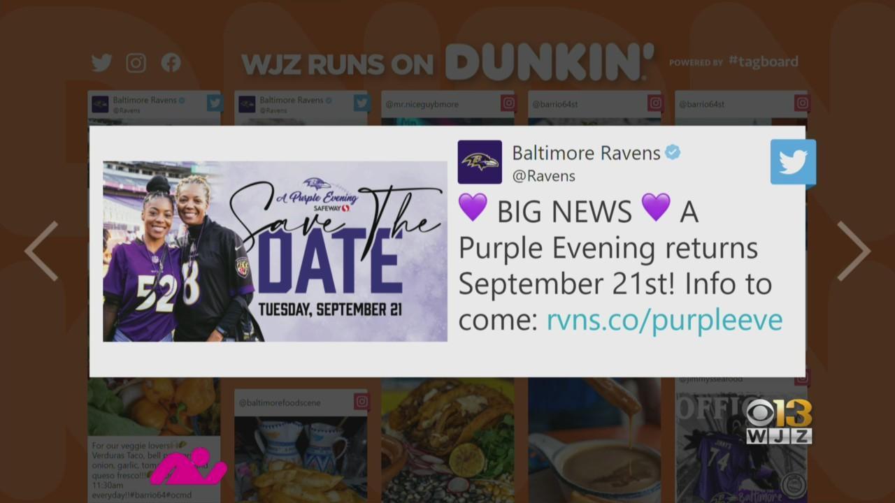 Baltimore Buzz: Purple Evening Returns Sept. 21