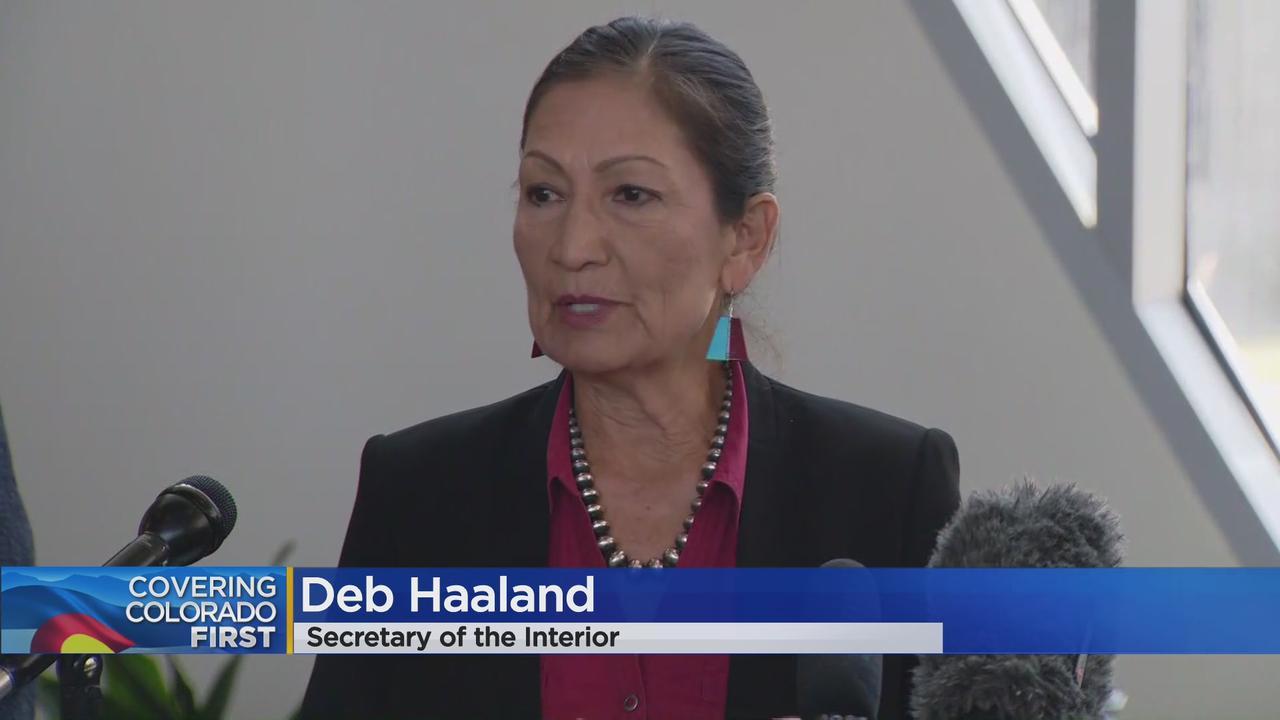 In Denver Visit, Interior Secretary Deb Haaland Says Drought Demands Investment