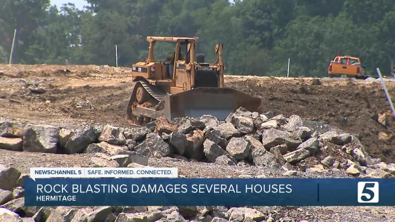 Rock blasting causes damage at multiple Hermitage homes