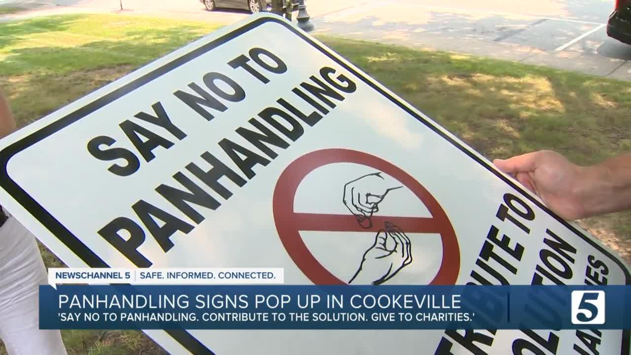 'Say No To Panhandling.' Signs in Cookeville beg drivers to donate to nonprofits, not panhandlers