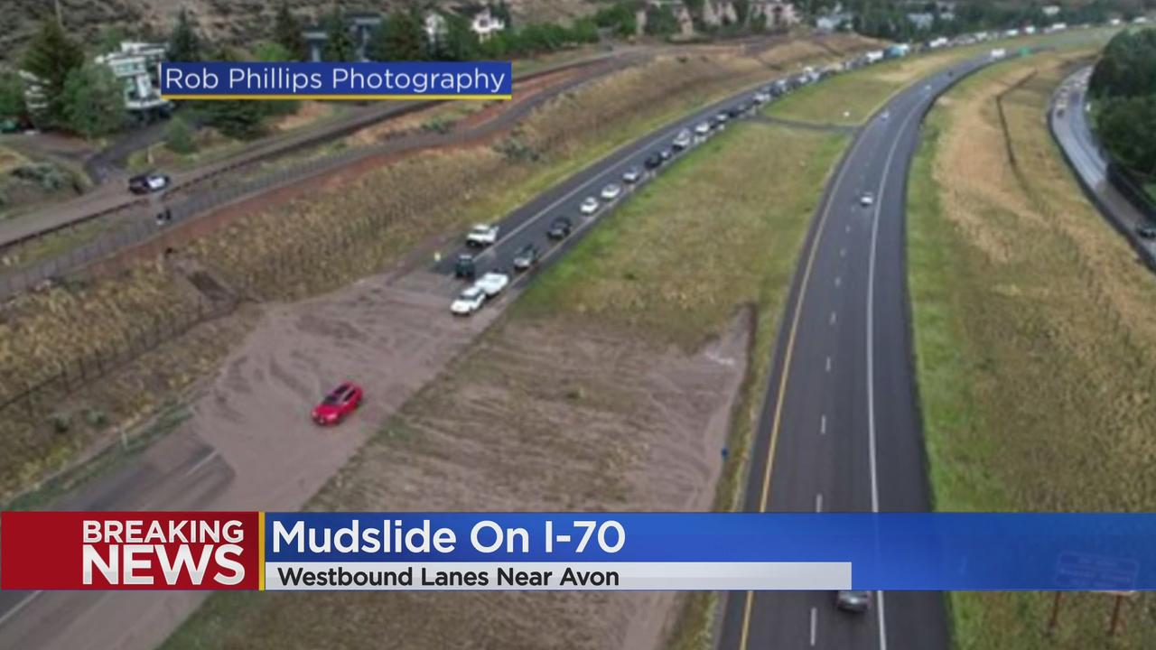 Westbound Lanes Of I-70 Near Avon Closed Due To Mudslide Thursday Evening