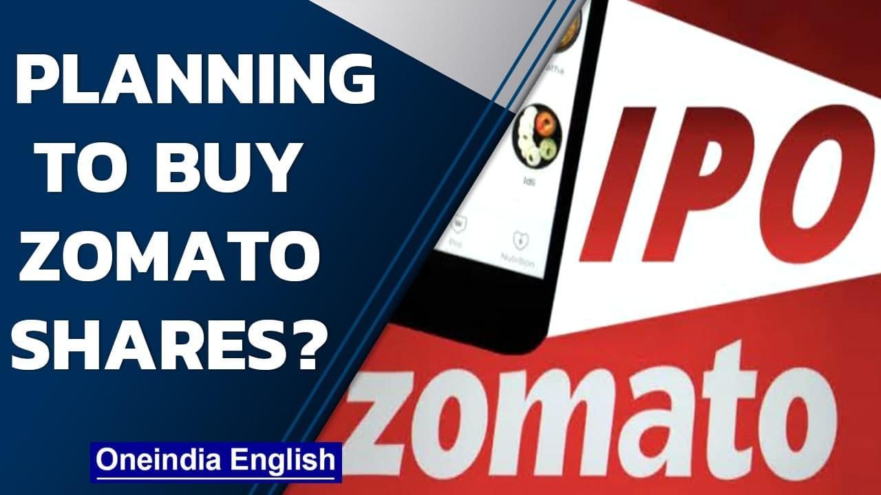 Zomato lists at 53% premium over IPO issue price  Zomato bumper listing  Oneindia News