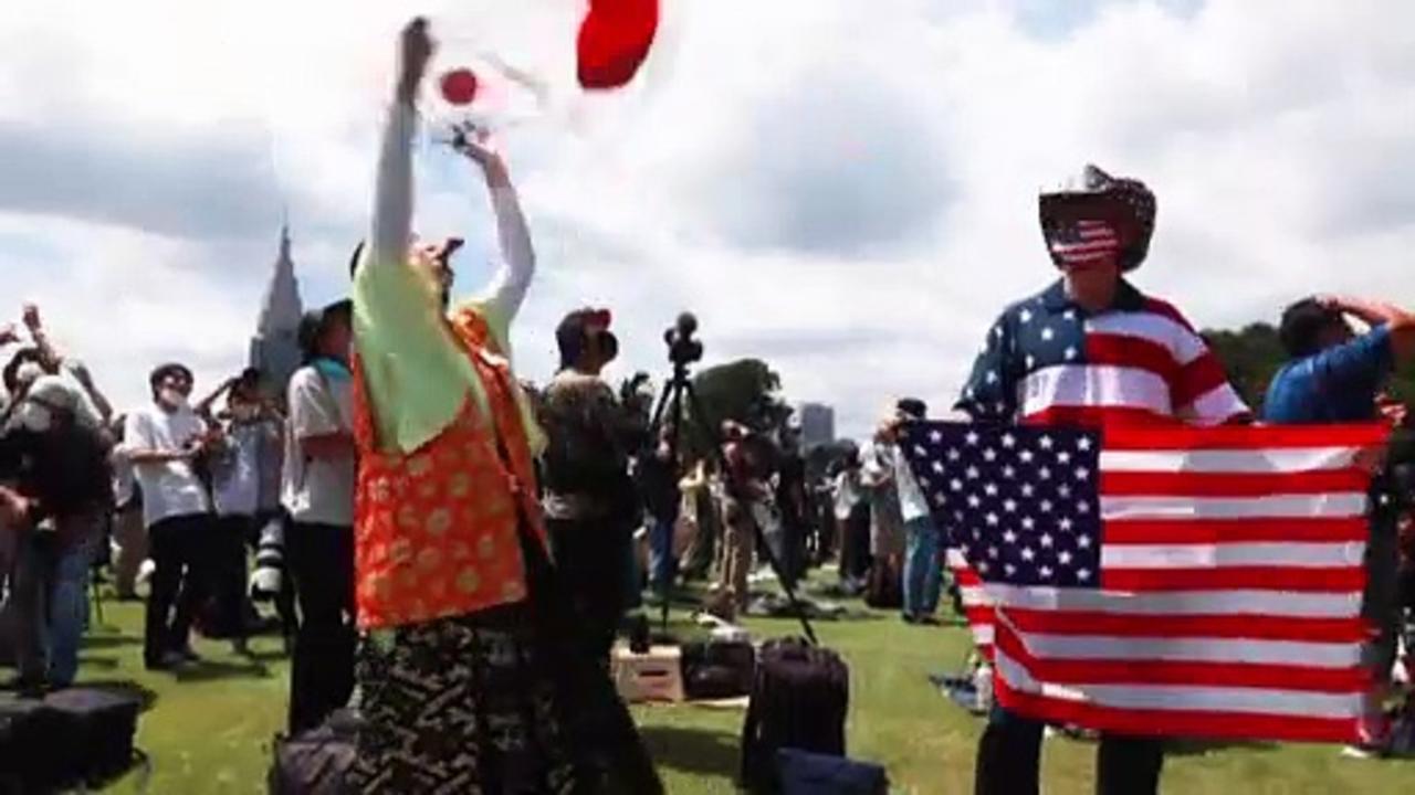 Japan Olympic superfan celebrates Tokyo 2020 Games