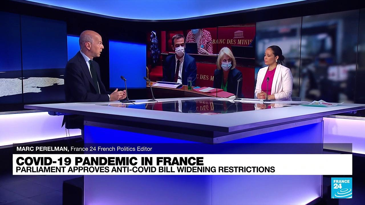 French parliament approves anti-covid bill widening restrictions