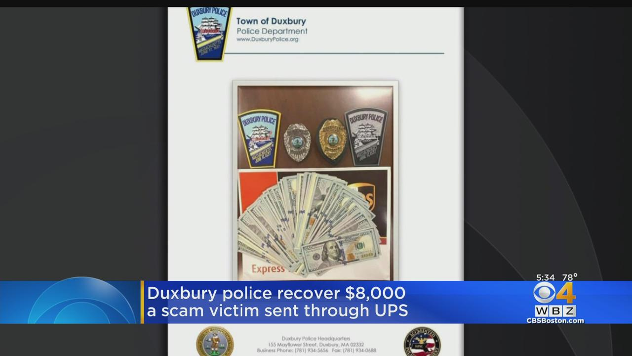 Duxbury Police Recover Money For Victim Scammed Out Of $8,000