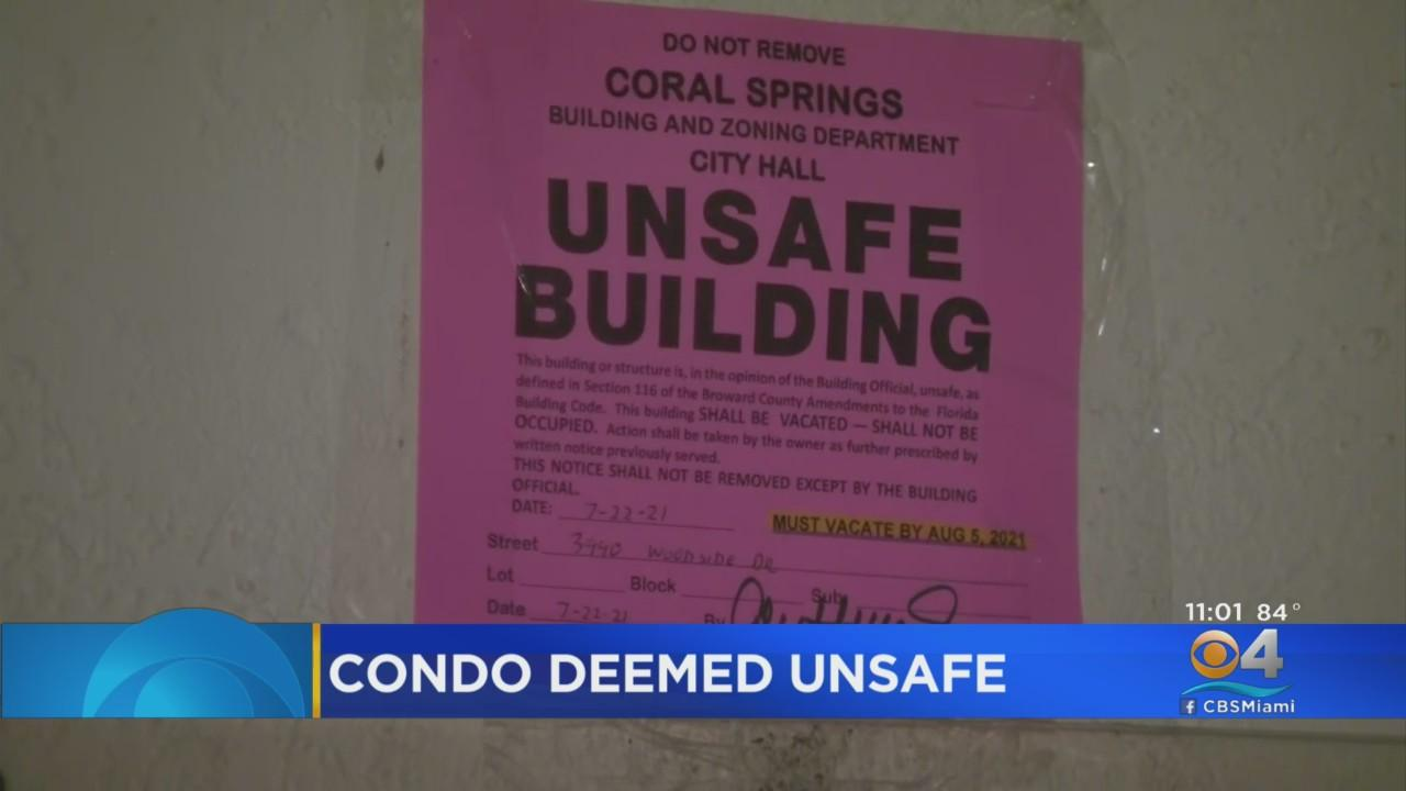Coral Springs Condo Deemed Unsafe, Residents Told To Evacuate