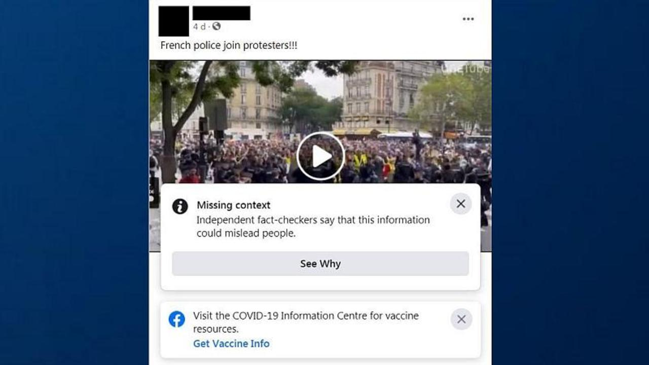 Fact-Check: Video does not show French police joining protests against vaccine passports
