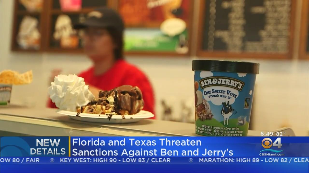 Florida and Texas Threaten Sanctions Against Ben & Jerry's Over Israel Boycott