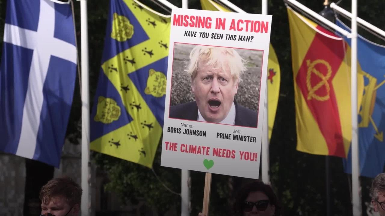 100 days to Cop26: Protesters urge PM to take climate change seriously