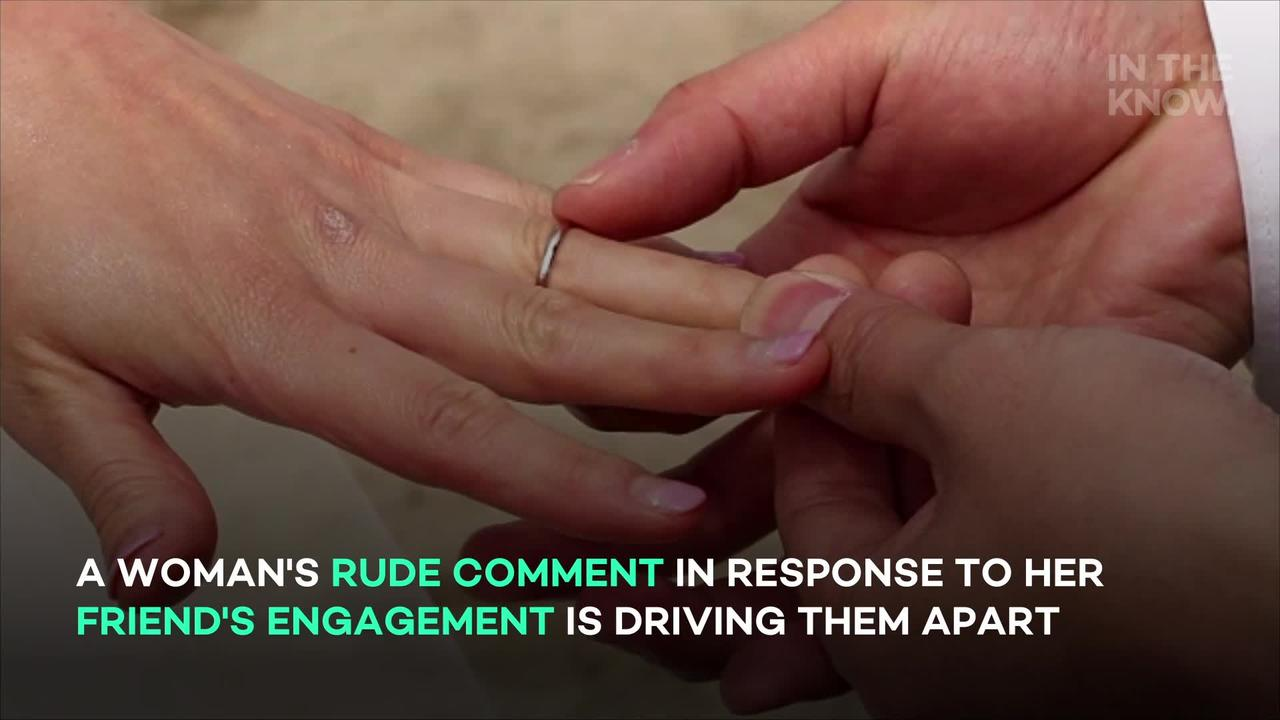 Woman faces backlash over 'disgusting' reaction to friend's engagement
