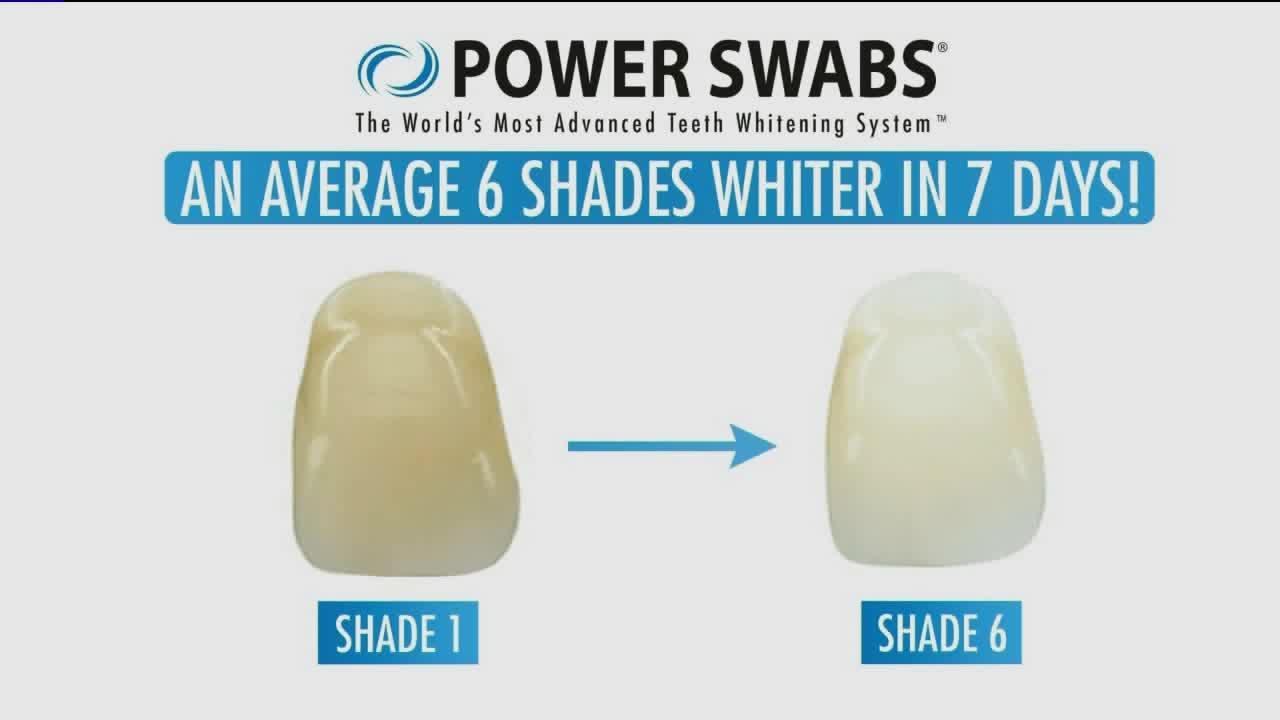 Power Swabs for brighter teeth