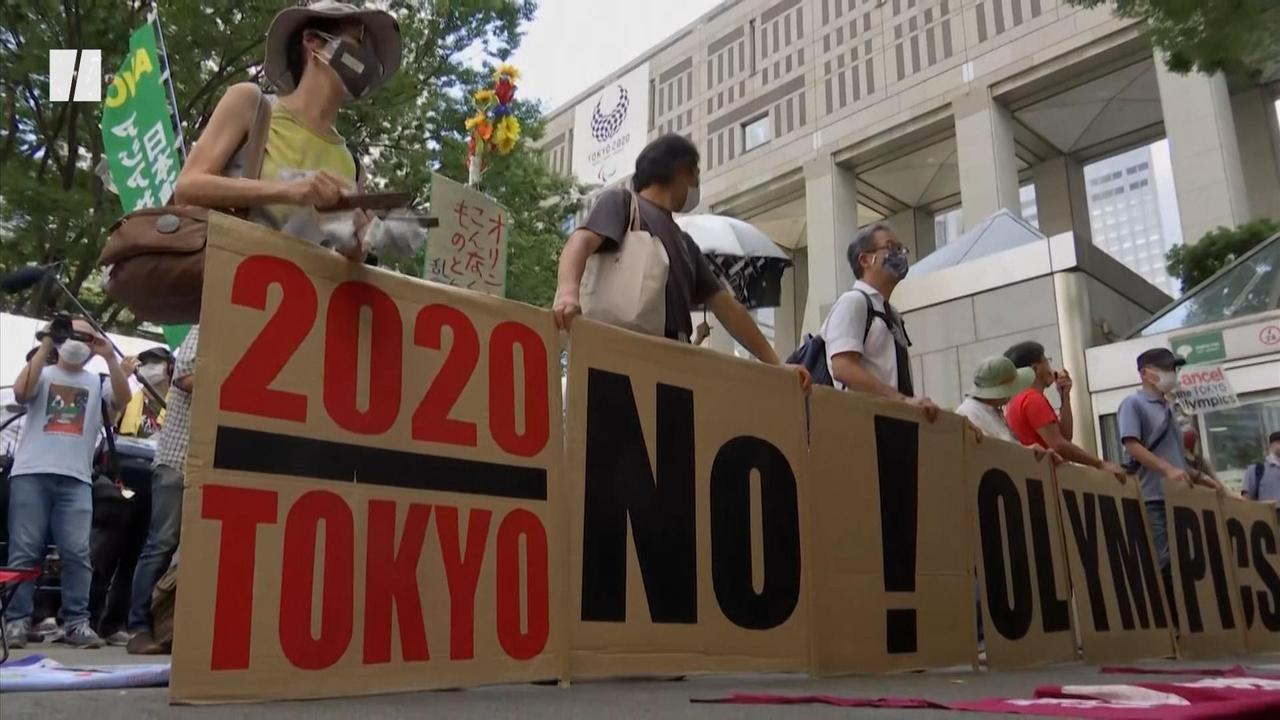 Tokyo Demonstrators: 'Cancel The Olympics'