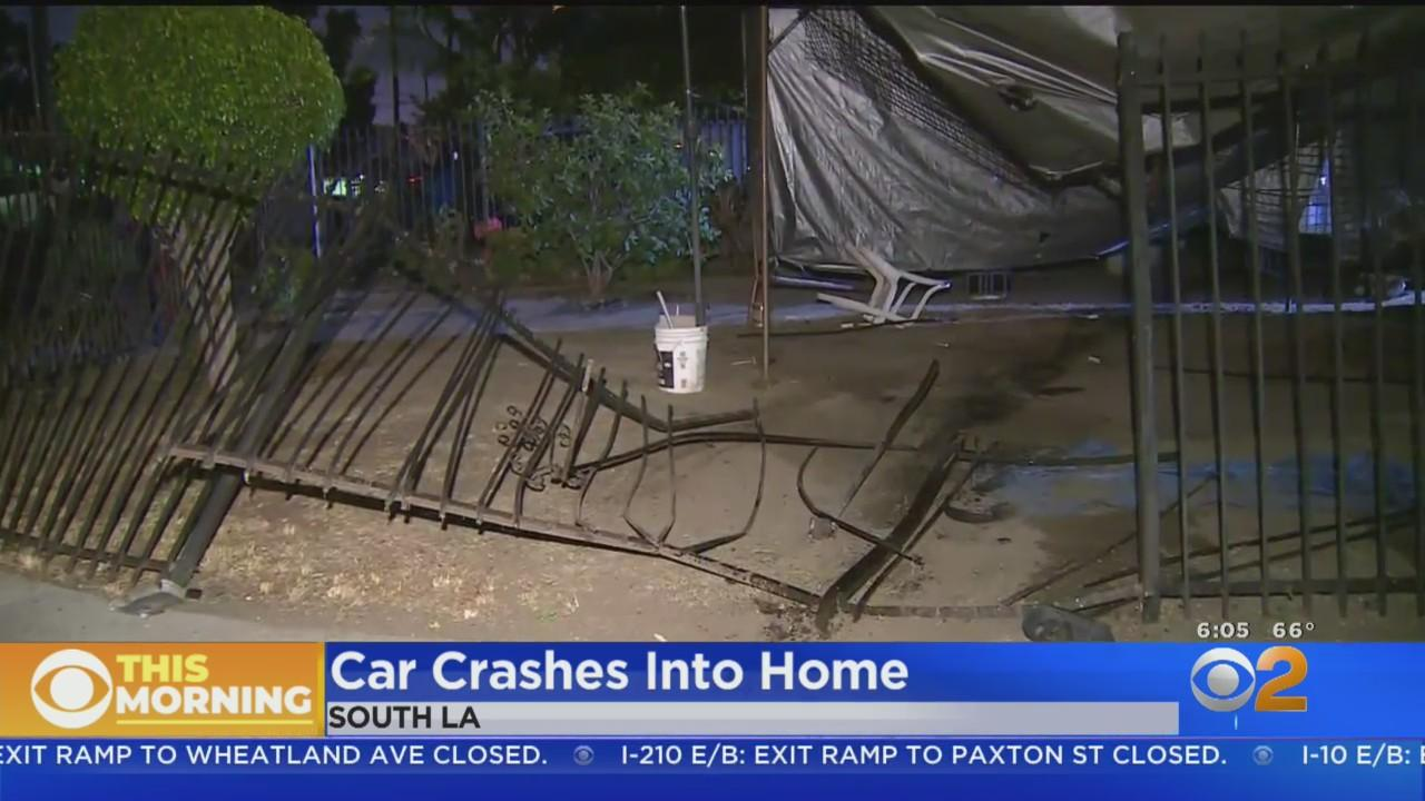 Car Crashes Into Home In South LA