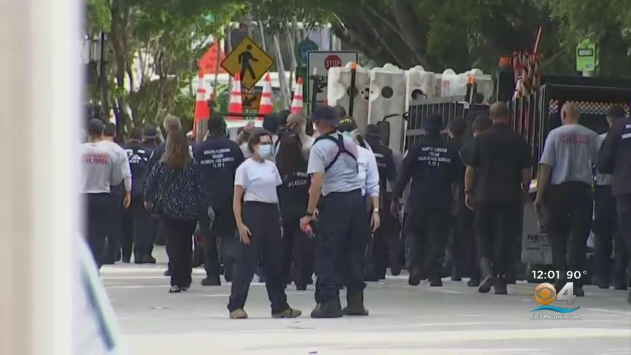 Locally Based FEMA Task Force Teams  Demobilizing After Month-Long Deployment At Surfside Condo Collapse Site