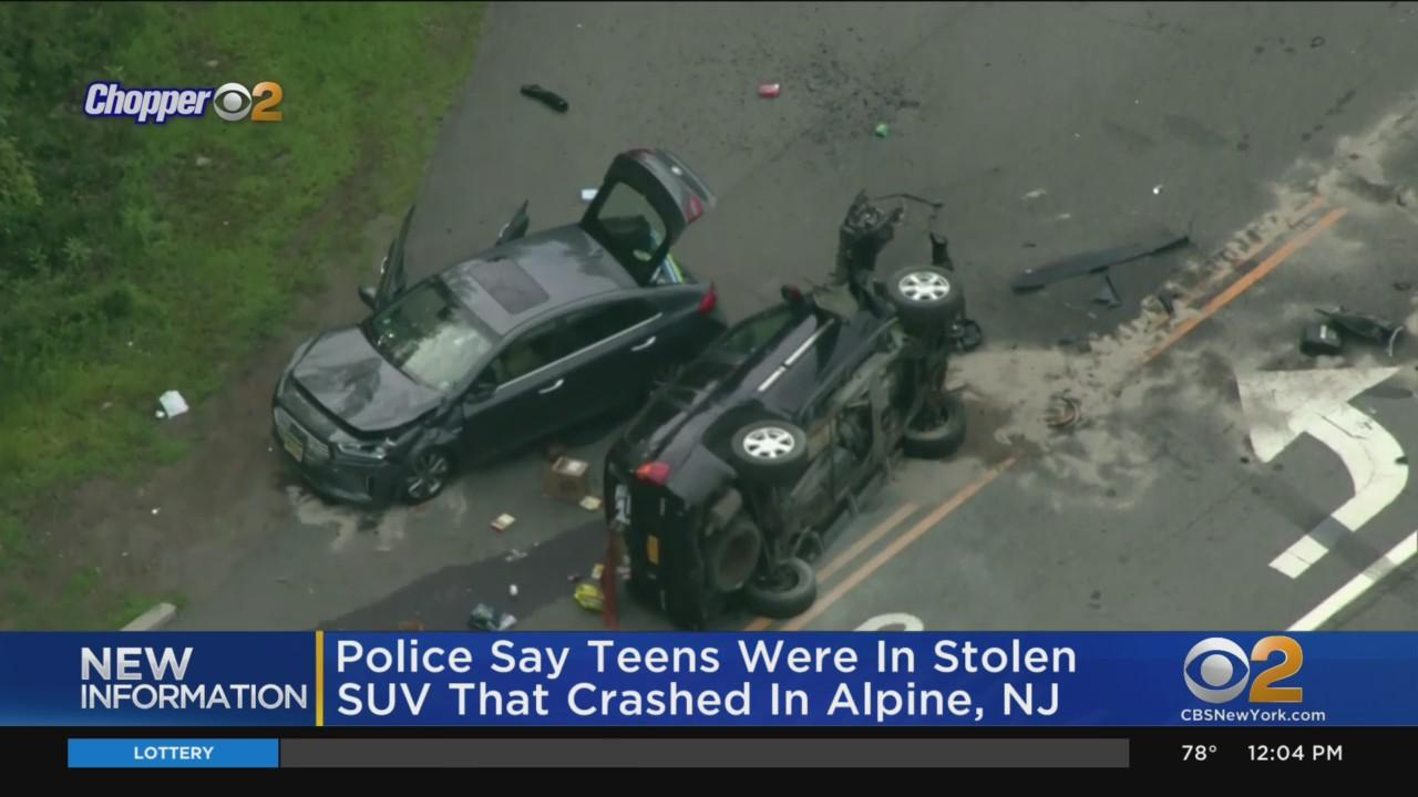Police: Teens Were In Stolen SUV That Crashed On New Jersey Highway