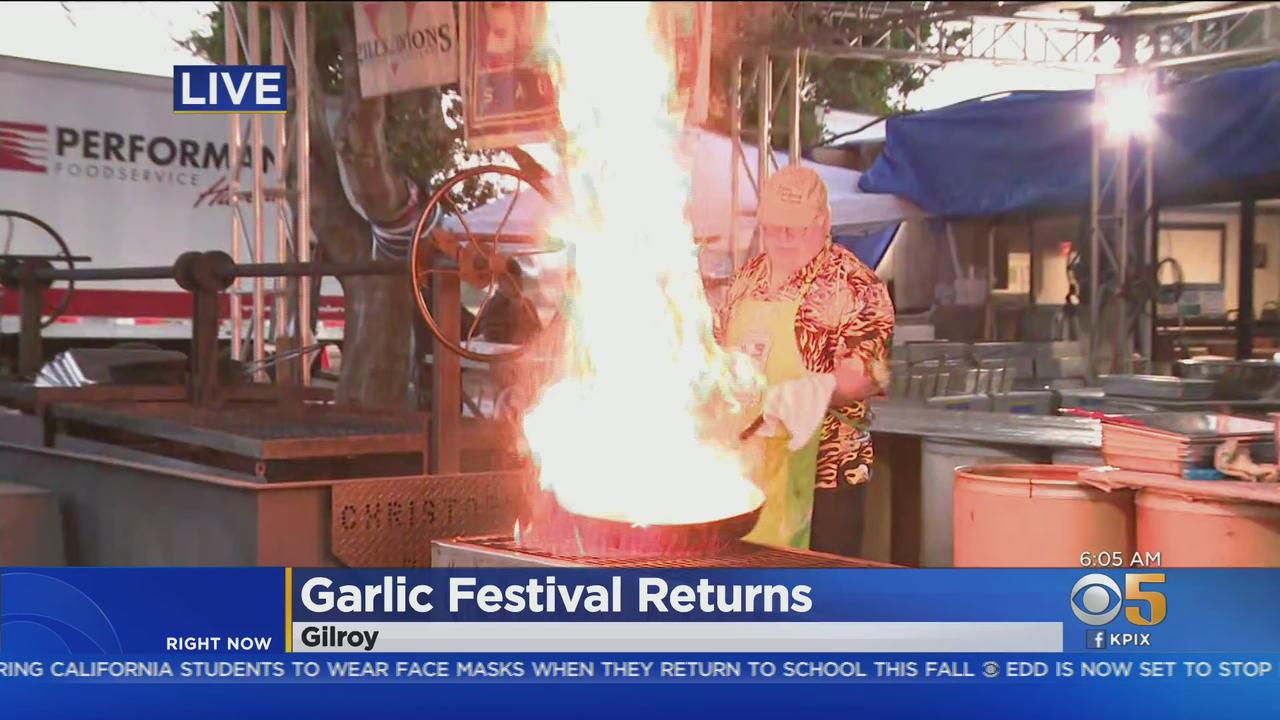 Gilroy Garlic Festival Makes Comeback After 2 Difficult Years; Returns As Drive-Thru Event