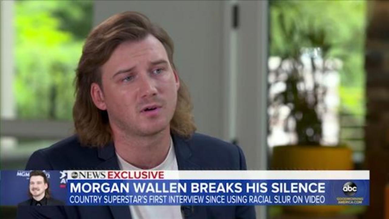 Morgan Wallen talks to Michael Strahan about using racial slur