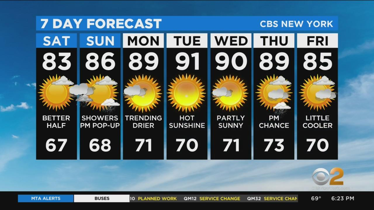 New York Weather: CBS2 7/23 Evening Forecast at 6PM