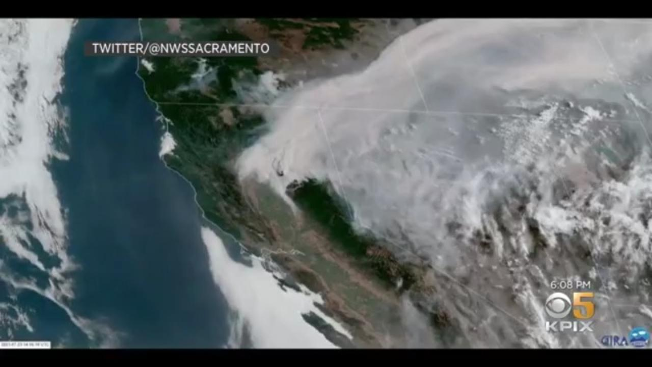 NorCal Wildfire Smoke Could Impact Bay Area Air Quality Starting Sunday Night