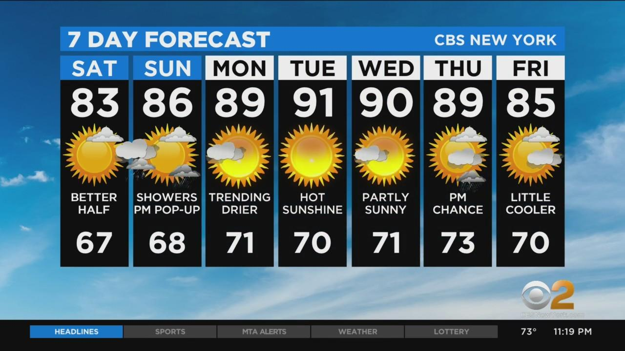 New York Weather: CBS2 7/23 Nightly Forecast at 11PM