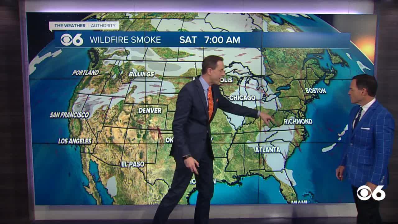 Wildfires blasting through West are bringing smoke to Virginia