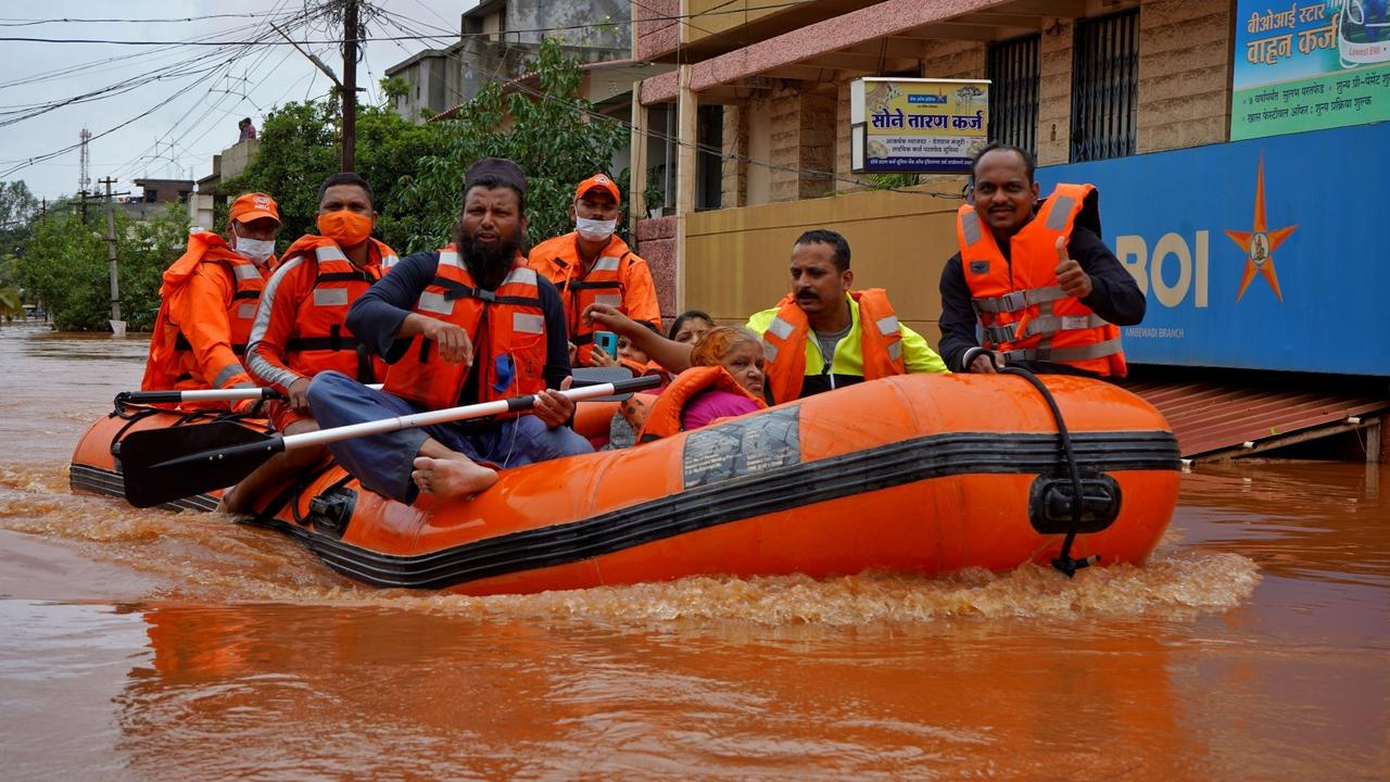 India floods: Rescue efforts continue as more rain expected in Maharashtra
