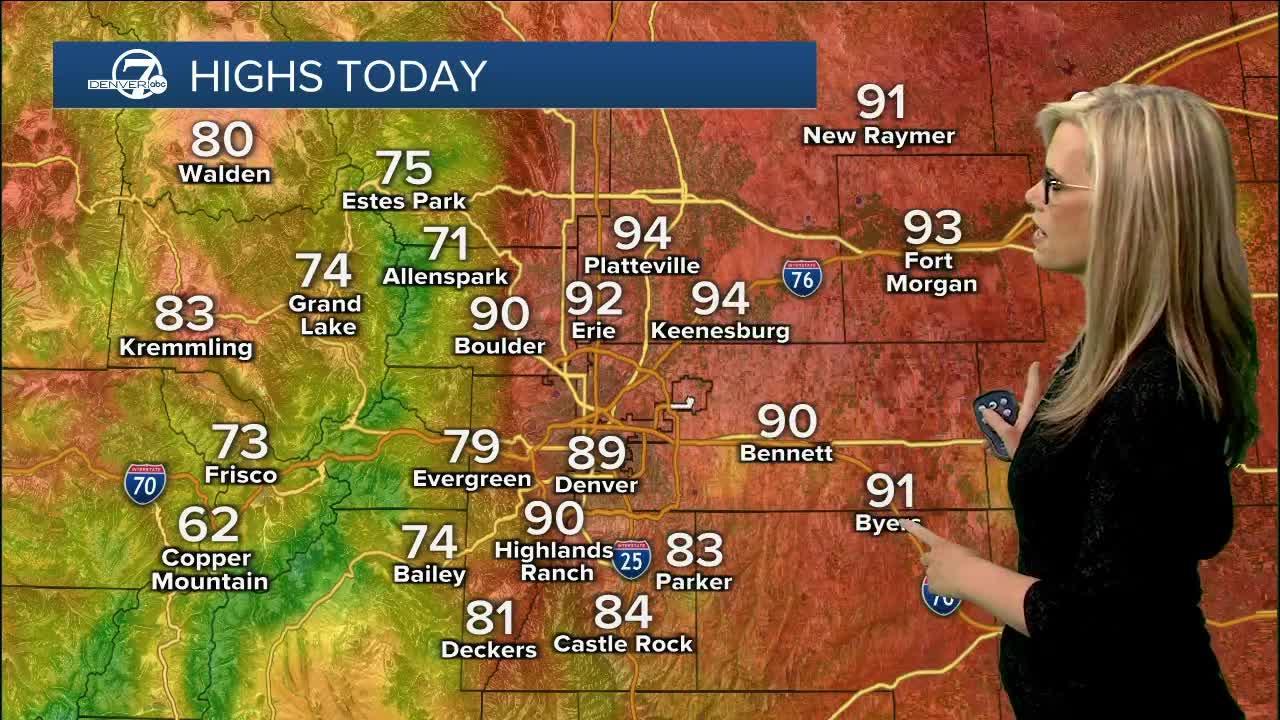 Latest Sunday forecast: Air quality alert for Denver