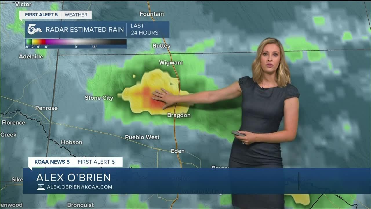 More slow-moving thunderstorms in southern Colorado Sunday
