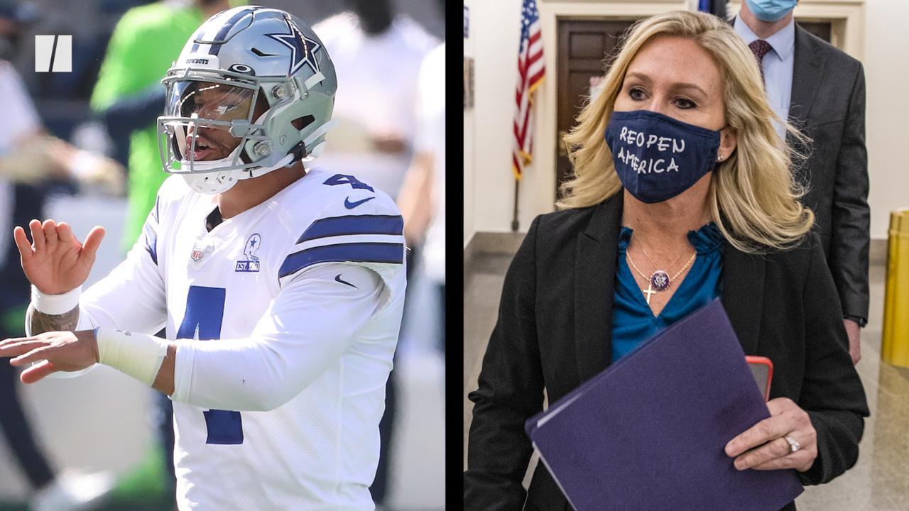 NFL Star Invokes QAnon Rep's Vaccine Defense