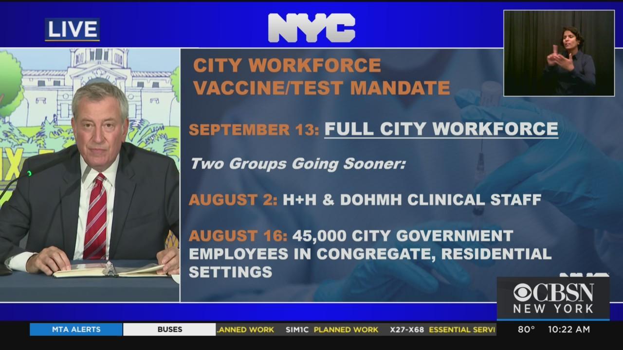 Mayor De Blasio Announces New Vaccine Mandate